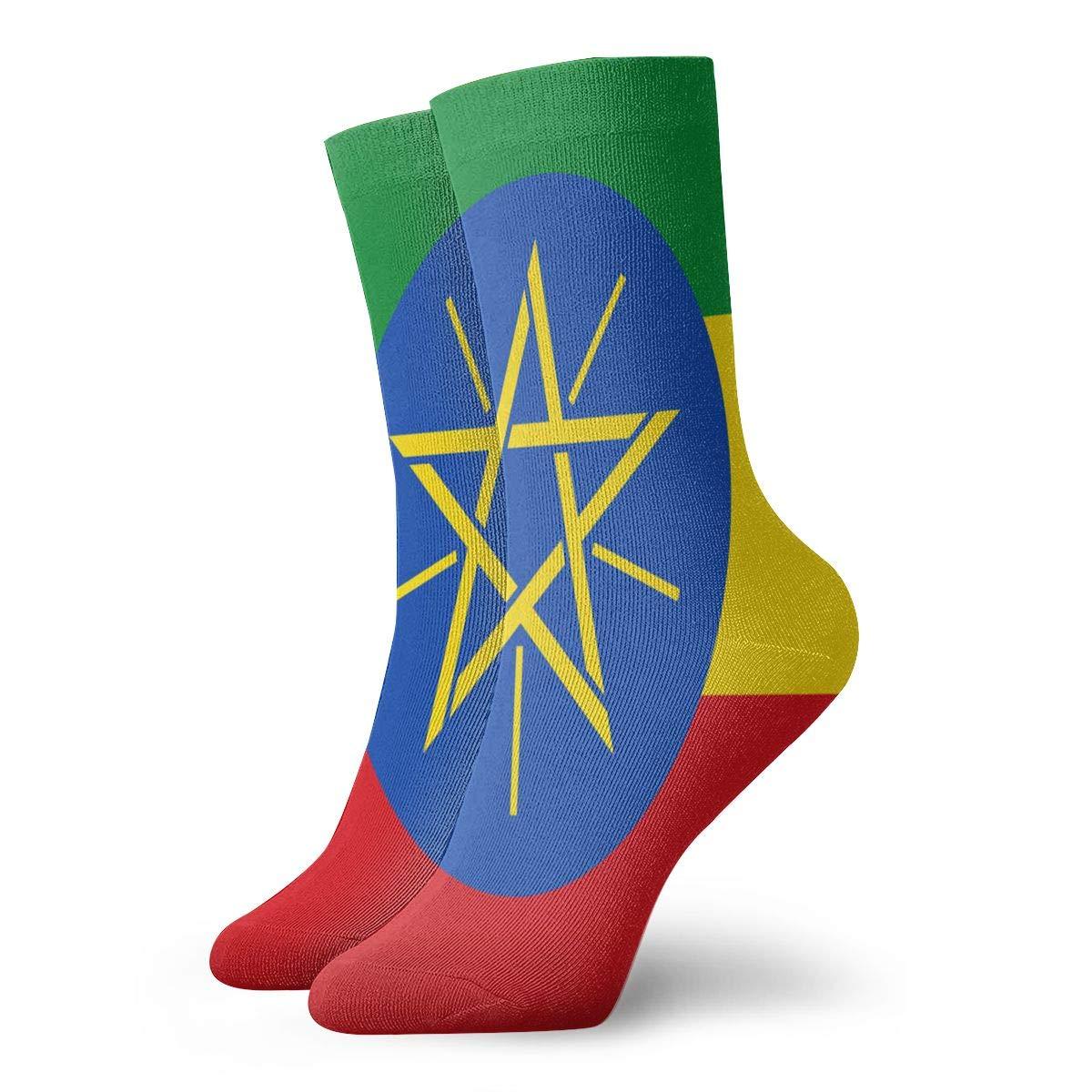 SESY Flag Of Ethiopia Unisex Crew Socks Short Sports Stocking