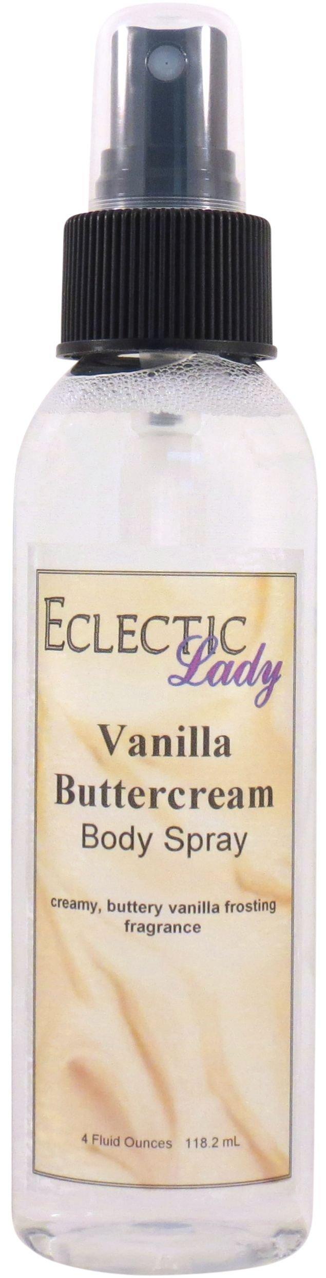 Vanilla Buttercream Body Spray, 4 ounces