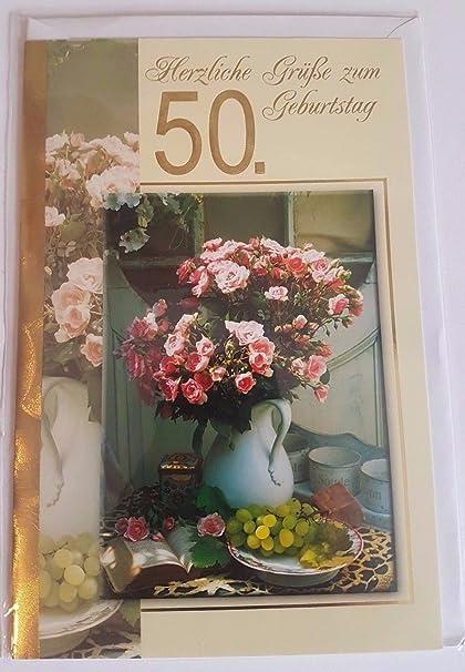 Fiori 50 Anniversario.50 Anni Di Fiori In Vaso Biglietto Di Auguri Auguri Fuenzig