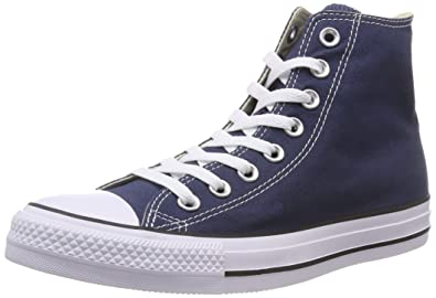Converse Unisex Chuck Taylor All Star Hi Top Sneaker Shoes Navy Blue (3.5) ( 61061d589
