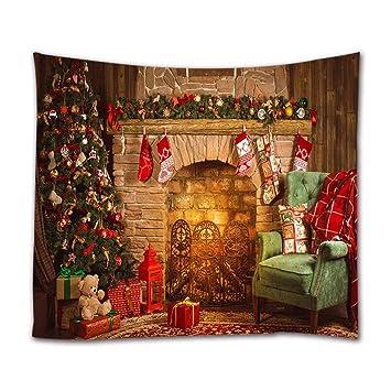 A.Monamour Tapices Interior De La Navidad Chimenea Habitación Calcetines Regalo Colgando En El Árbol