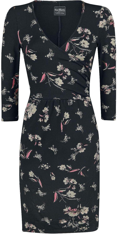 Vive Maria Lovestory WrapDress Mittellanges Kleid schwarz