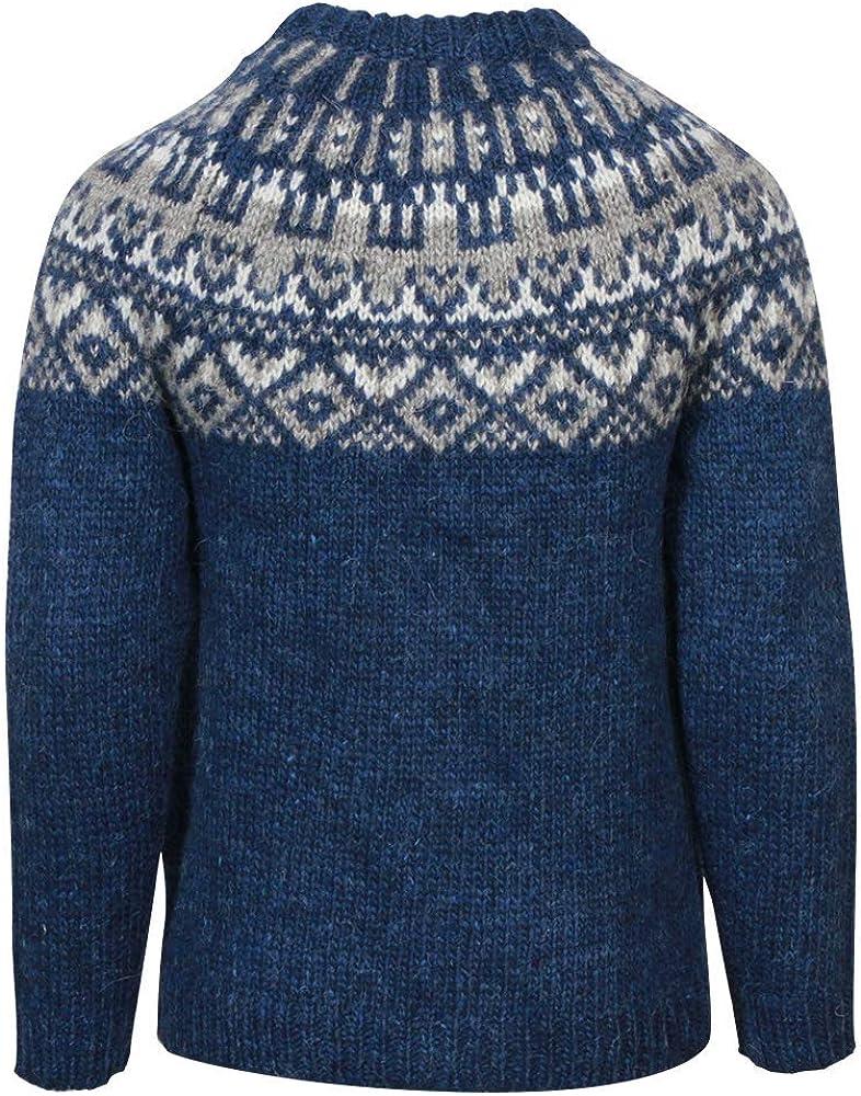 ICEWEAR Elmar Kid,S Sweater Lopapeysa Design 100/% Icelandic Wool Long Sleeve Crew Neck Winters Sweater with Full Zipper