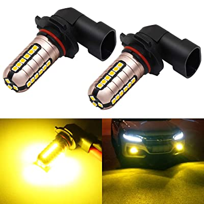 Phinlion H10 9140 9145 Yellow LED Fog Light Bulbs 3000 Lumens Super Bright 3030 27-SMD 9040 9045 9055 9155 LED Bulb Replacement for DRL or Fog Lamps, Golden Yellow: Automotive
