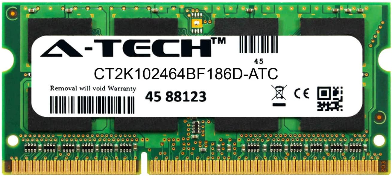 A-Tech 8GB Replacement for Crucial CT2K102464BF186D - DDR3/DDR3L 1866MHz PC3-14900 Non ECC SO-DIMM 2rx8 1.35v - Single Laptop & Notebook Memory Ram Stick (CT2K102464BF186D-ATC)