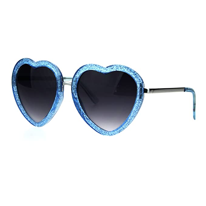 Amazon.com: Glittery forma de corazón anteojos de sol ...