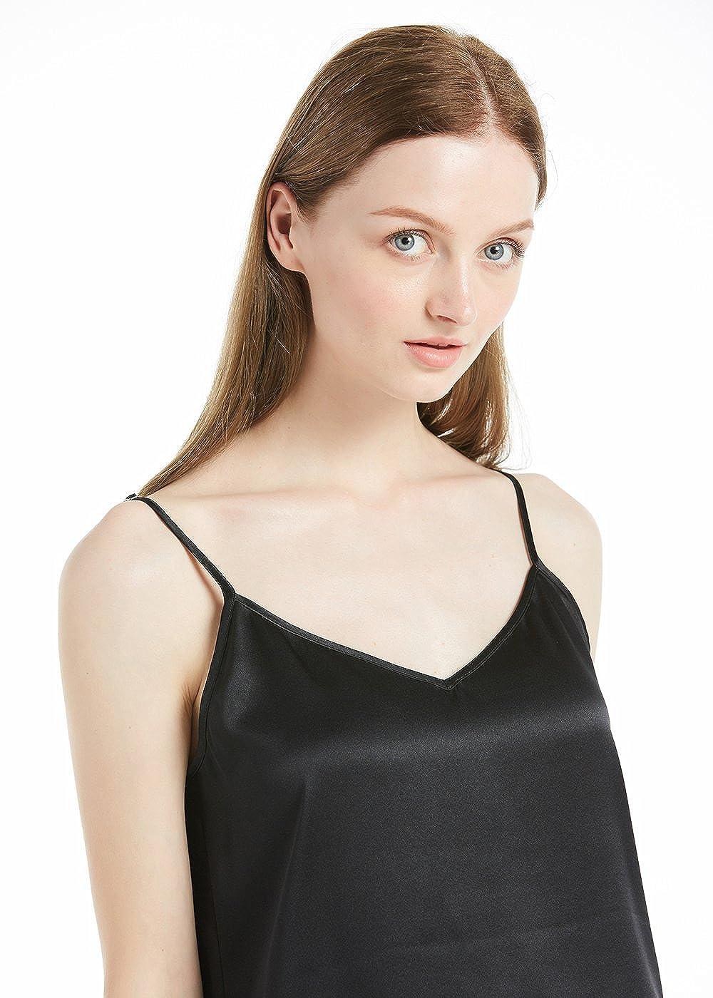 70cf7469b9 LILYSILK Women s Silk Camisole Vest Lingerie Ladies Tank Top 22 Momme  Charmeuse Silk  Amazon.co.uk  Clothing