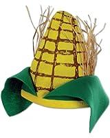 Plush Corn Cob Hat