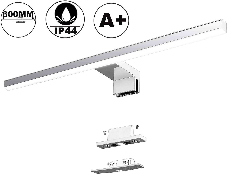 LED Spiegelleuchte Badezimmer 10W 820LM 60cm Neutralweiß 4000K Azhien - Spiegelleuchte