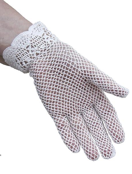 Dents Short Cotton Crochet Vintage Dress/Wedding/Evening Gloves - Ladies/Womens - Black: Amazon.co.uk: Clothing