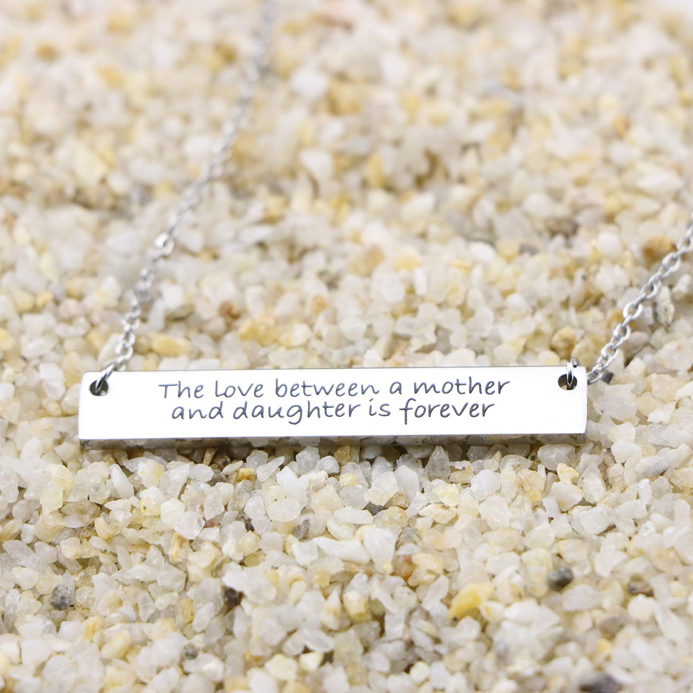 Awegift Mothers Necklace Gifts Stainless Steel Bar Necklaces Mom Jewelry from Daughter Son Kids