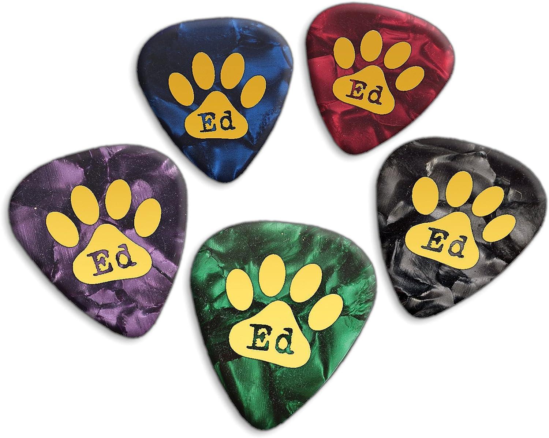 Ed Sheeran 5 X Loose Púas de guitarra Mixed Pearl (GHF): Amazon.es ...