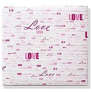"""scrapbook album 10""""x10"""" with 40 sheet love themed scrapbook paper (love words)"""