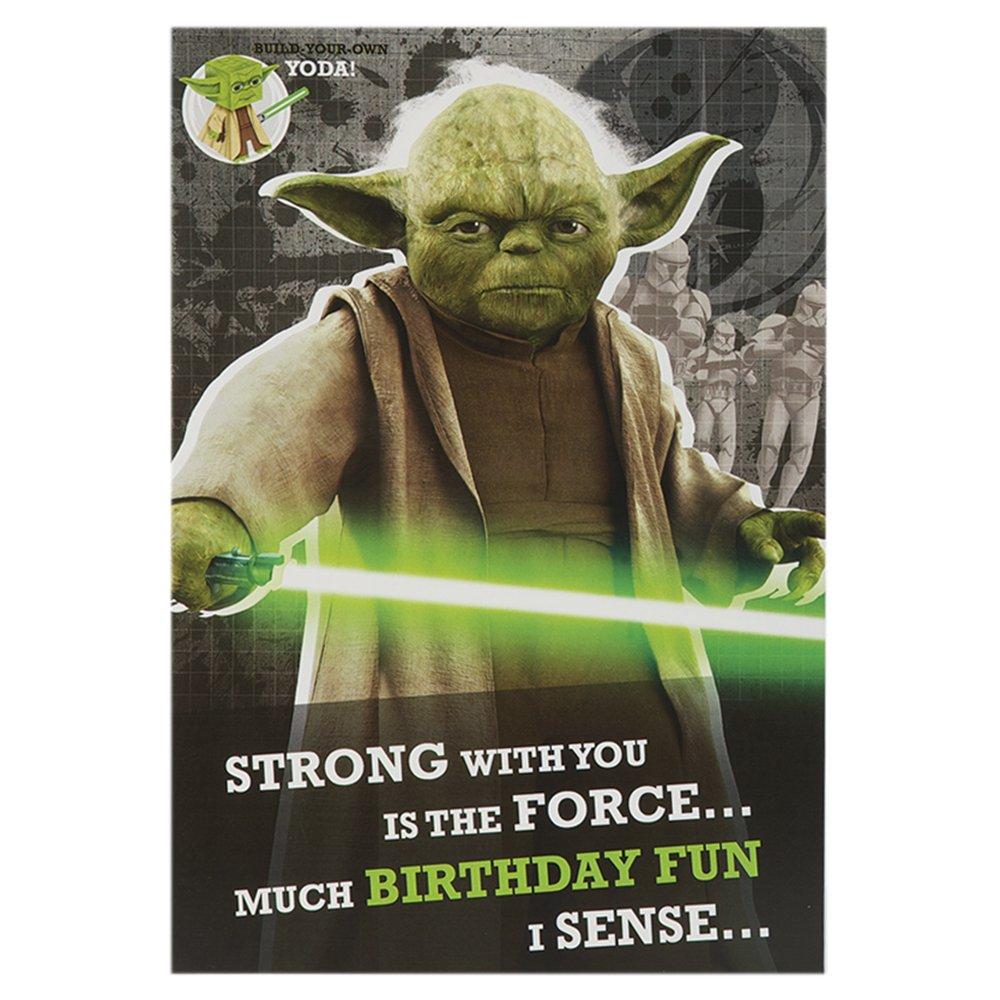Star Wars Build Eigenen Yodahallmark Geburtstagskarte Amazonde