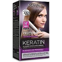 Kativa Keratin Kit Alisado Brasileño Xpress - Brazilian Straightening Treatment - Tratamiento Alisado en casa con…