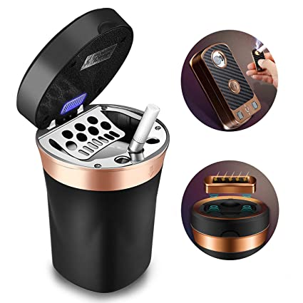 Auto Replacement Parts Car Cup Holder Car Ashtray Garbage Coin Storage Cup Container Led Light Cigar Ash Tray For Mercedes Benz Auto Accessories Latest Technology Exterior Parts