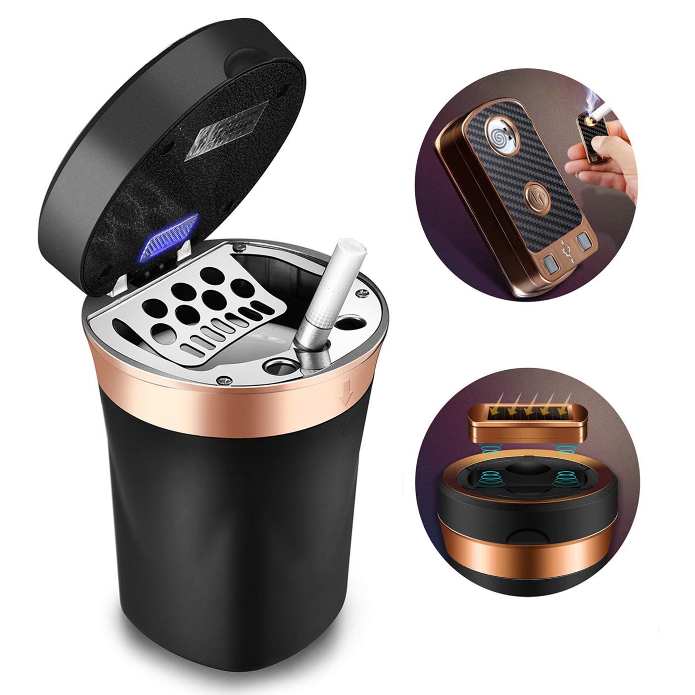 Up Detachable Stainless Cup Body with 1 Pcs Car Cup Holder MOSA STORE Car Ashtray
