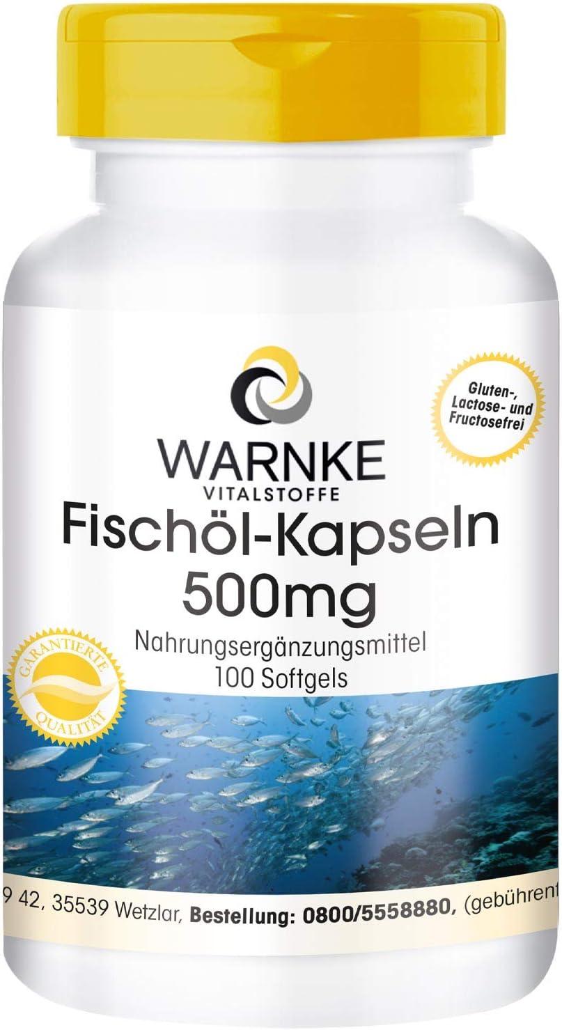 Aceite de Pescado 500mg – 30% de ácidos grasos Omega 3 (EPA y DHA) – 100 cápsulas blandas
