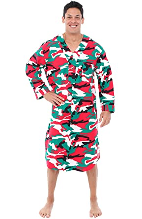 Alexander Del Rossa Mens Flannel Nightshirt b204b2e35