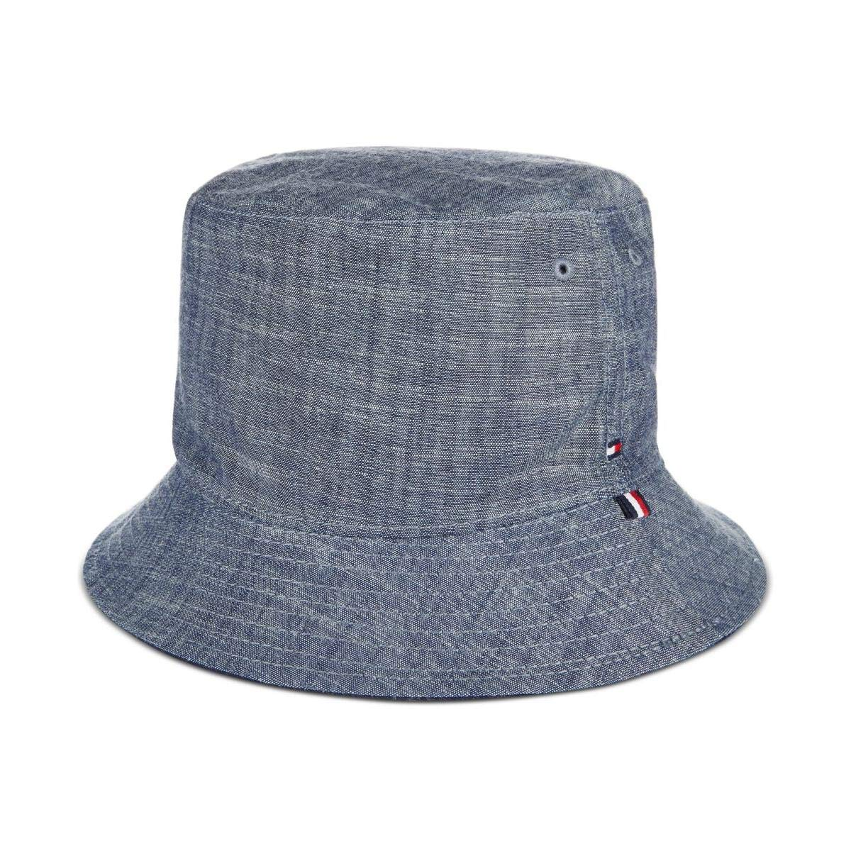 Tommy Hilfiger Mens Chambray Outdoor Bucket Hat Blue O S at Amazon Men s  Clothing store  a7ad36967b3