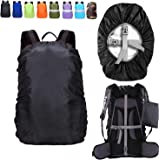 ZM-SPORTS 15-90L Upgraded Waterproof Backpack Rain Cover,with Vertical Adjustable Fixed Strap Avoid to Falling,Gift with Port