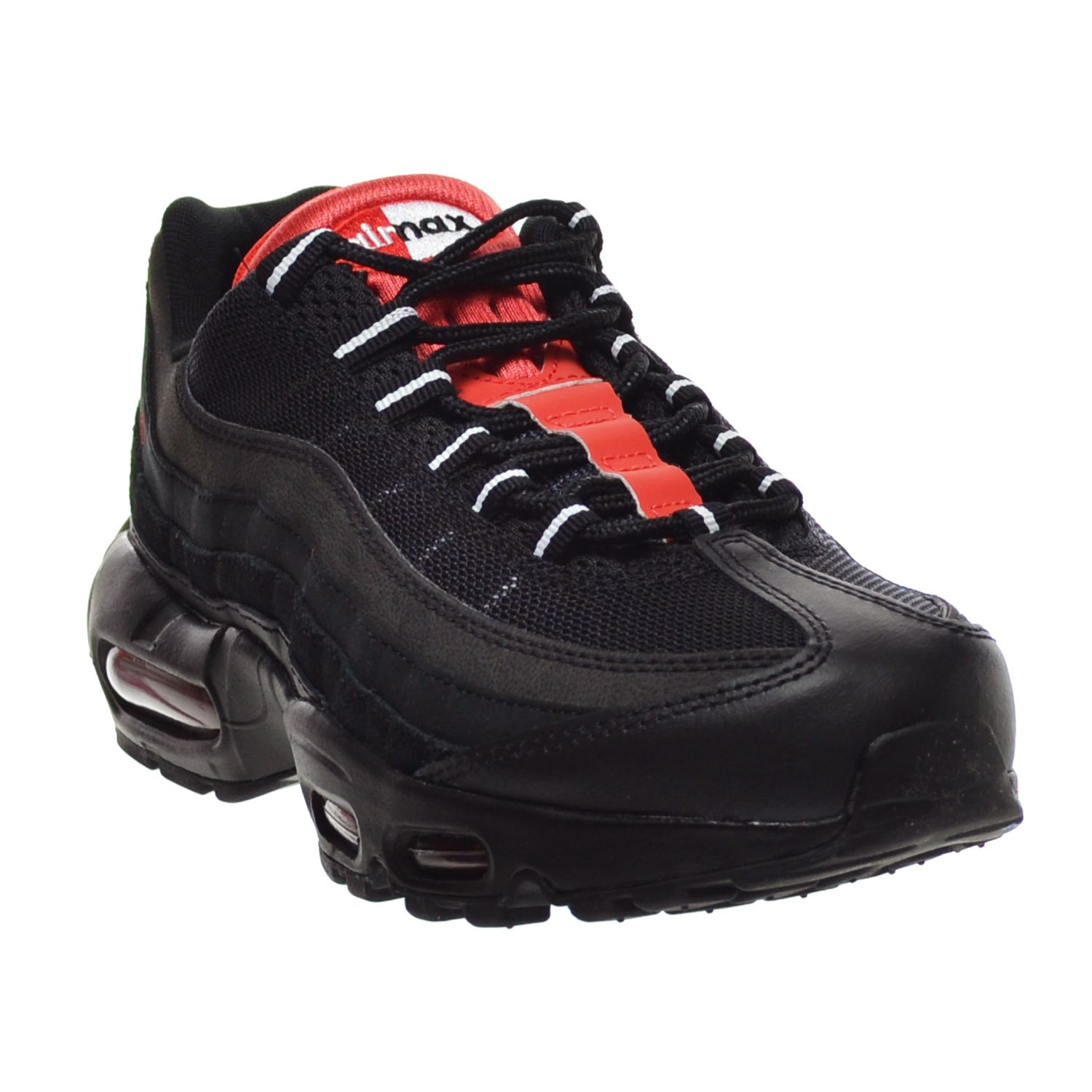 brand new e4e1b aaa80 Amazon.com   Nike Air Max 95 Essential Men s Shoes Black Challenge Red White  749766-016 (9.5 D(M) US)   Fashion Sneakers