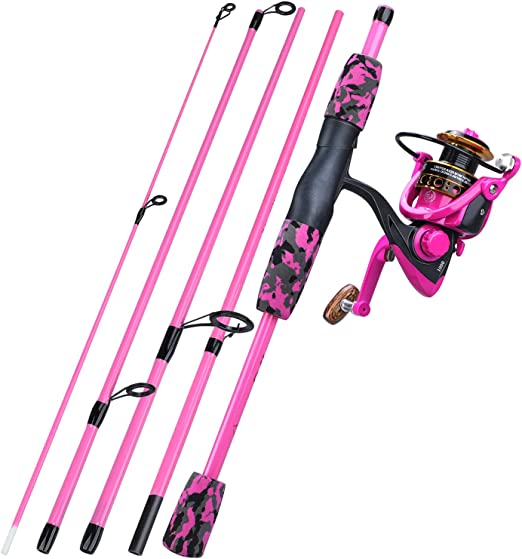 Amazon Com Yongzhi Spinning Fishing Rod 5 Piece Portable Fishing Pole And Reel Combo For Boys Girls And Adults R Clothing
