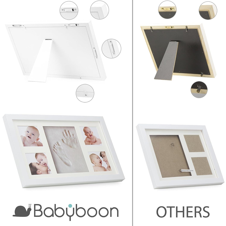 Baby Hand- und Fußabdruck-Set mit Bilderrahmen von ® Babyboon | 4 ...