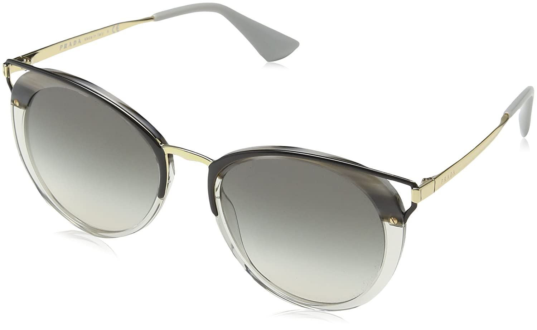 Womens 0PR07US U435O0 Sunglasses, Pale Gold/Black/Grey/Gradientgreymirrorsilver, 64 Prada