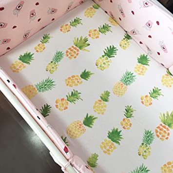 Amazon.com : CC Shop Baby Bed Fitted Sheet Soft Cotton Crib Sheets Nursery  Bedding (Pineapple) : Baby