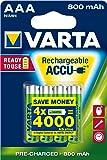 Varta 56703101404 - Acumulador mod.R-03 800mAh blister 4 car