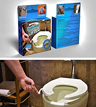 Cool Sani Hani Antimicrobial Toilet Seat Lifter Handle Best On The Market Great For Kids Adults Built To Last Be Healthy Sanitary Stop Machost Co Dining Chair Design Ideas Machostcouk