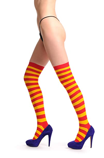 6bc696bc413f4 Red & Orange Warm Winter Cotton - Over The Knee Socks: Amazon.ca: Clothing  & Accessories