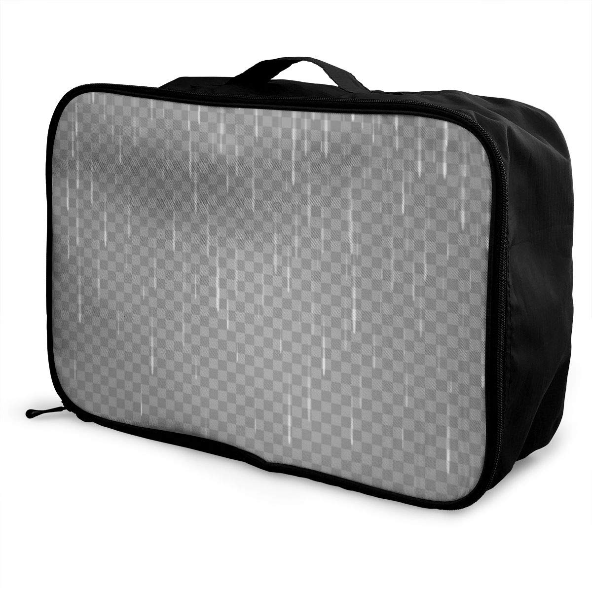 Yunshm Transparent Rain Image Rainy And Cloudy Personalized Trolley Handbag Waterproof Unisex Large Capacity For Business Travel Storage