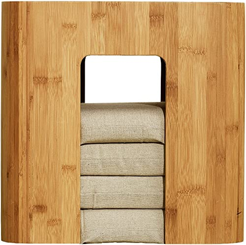Ottoman Storage Tatami Tea Table Bamboo Stool Coffee Table - the best living room table for the money