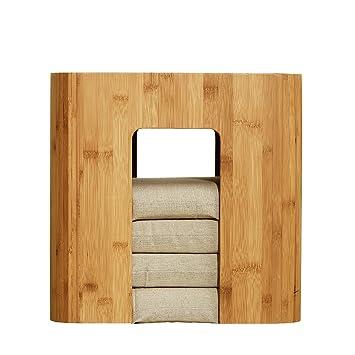 Tatamis de Bambou Zen Tabouret Bambou Table de Salon avec 4 ...