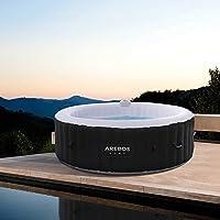 Arebos Opblaasbare whirlpool ROME voor binnen en buiten   rond   1000 liter   massage   verwarming   wellness
