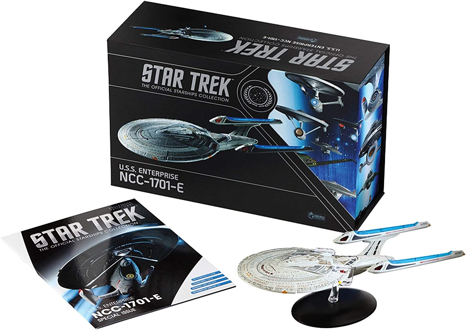 Star Trek The Official Starships Collection   U.S.S. Enterprise NCC-1701-E 10.5-inch XL Edition Model Ship Box by Eaglemoss Hero Collector: Toys & Games