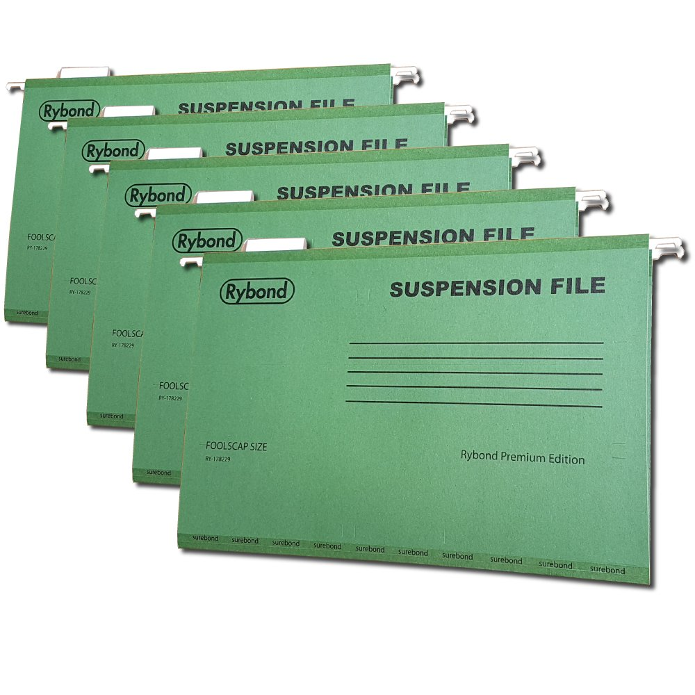 Suspension Files A4 [25 PACK] Heavyweight with Tabs and Inserts for A4  filing cabinets - MAKE THE GREENER CHOICE - Up to 50% postconsumer