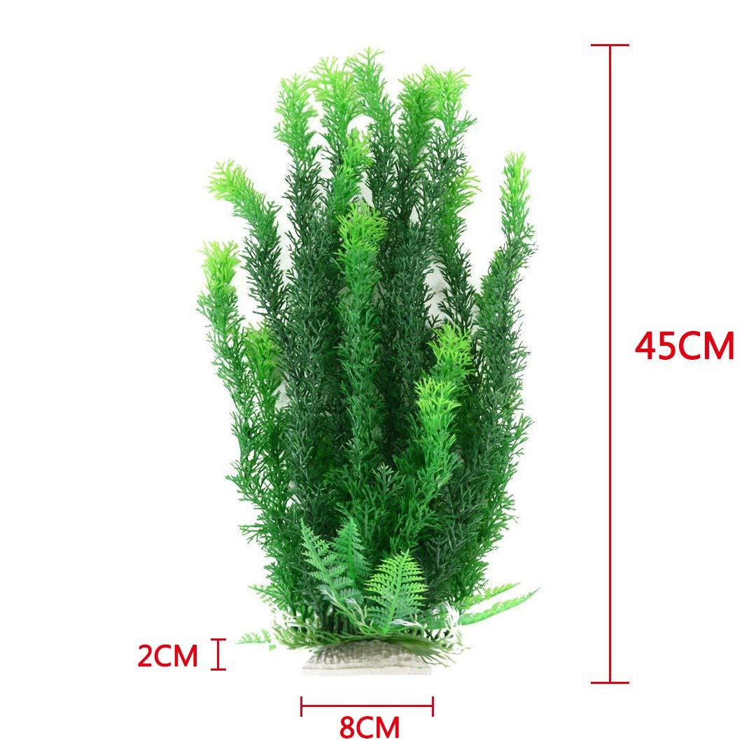 47 cm plástico verde amarillo decoración adorno agua planta acuática para Acuario Tanque de peces