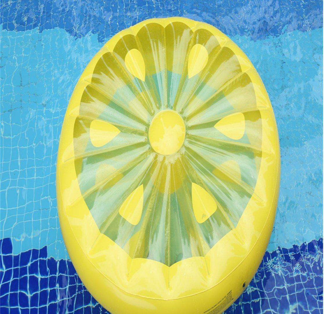 CRMM Flamenco Para Piscina, Flotador Gigante De Raft Lemon Style Para Adultos Y Niños Juguetes Fruit Floaty-Free Gift Bomba Inflable (160Cm  20Cm)
