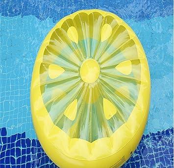 CRMM Flamenco Para Piscina, Flotador Gigante De Raft Lemon Style Para Adultos Y Niños Juguetes Fruit Floaty-Free Gift Bomba Inflable (160Cm * 20Cm): ...