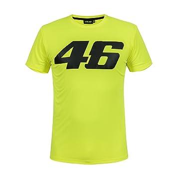 Valentino Rossi VR46 Moto GP Core Large Logo Amarillo Camiseta Oficial 2018