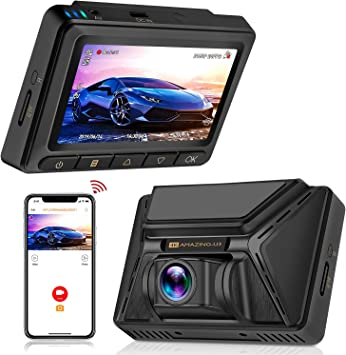 Oasser Dash CAM Cámara Coche Grabadora WiFi 2160P 128GB GPS Amplio Ángulo 170° Súper Condensador Visión Nocturna G-Sensor Ultra HD WDR Grabación en Bucle Detección de Movimiento: Amazon.es: Electrónica