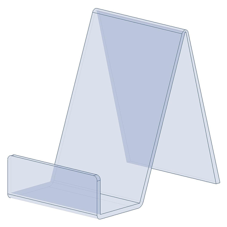 Displaypro, 5pezzi, supporto per libri in acrilico trasparente, ideale per libri, cellulari, piatti e altro ancora - 5pezzi