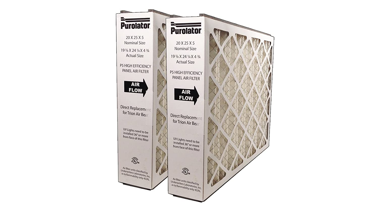 Sterling Seal P5MV8-20X20X5X4XCS P5-MV8 20x20x5 Purolator High End Filter Replacement for Trion Air Bear NJ Assigned By Sur-Seal Inc Pack of 4