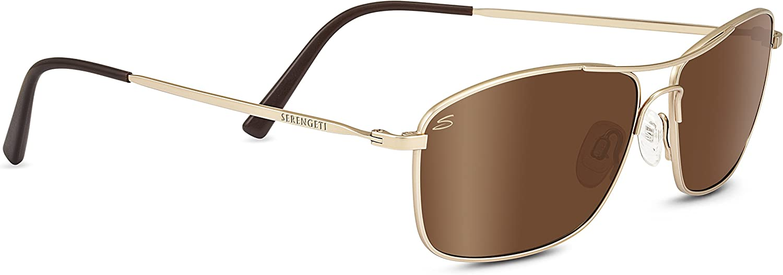 Serengeti Corleone Polarized Driver Sunglasses, Satin Soft Gold