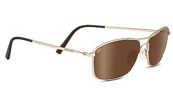 Serengeti Corleone Gafas, Unisex Adulto, Dorado (Satin Soft Gold), S/