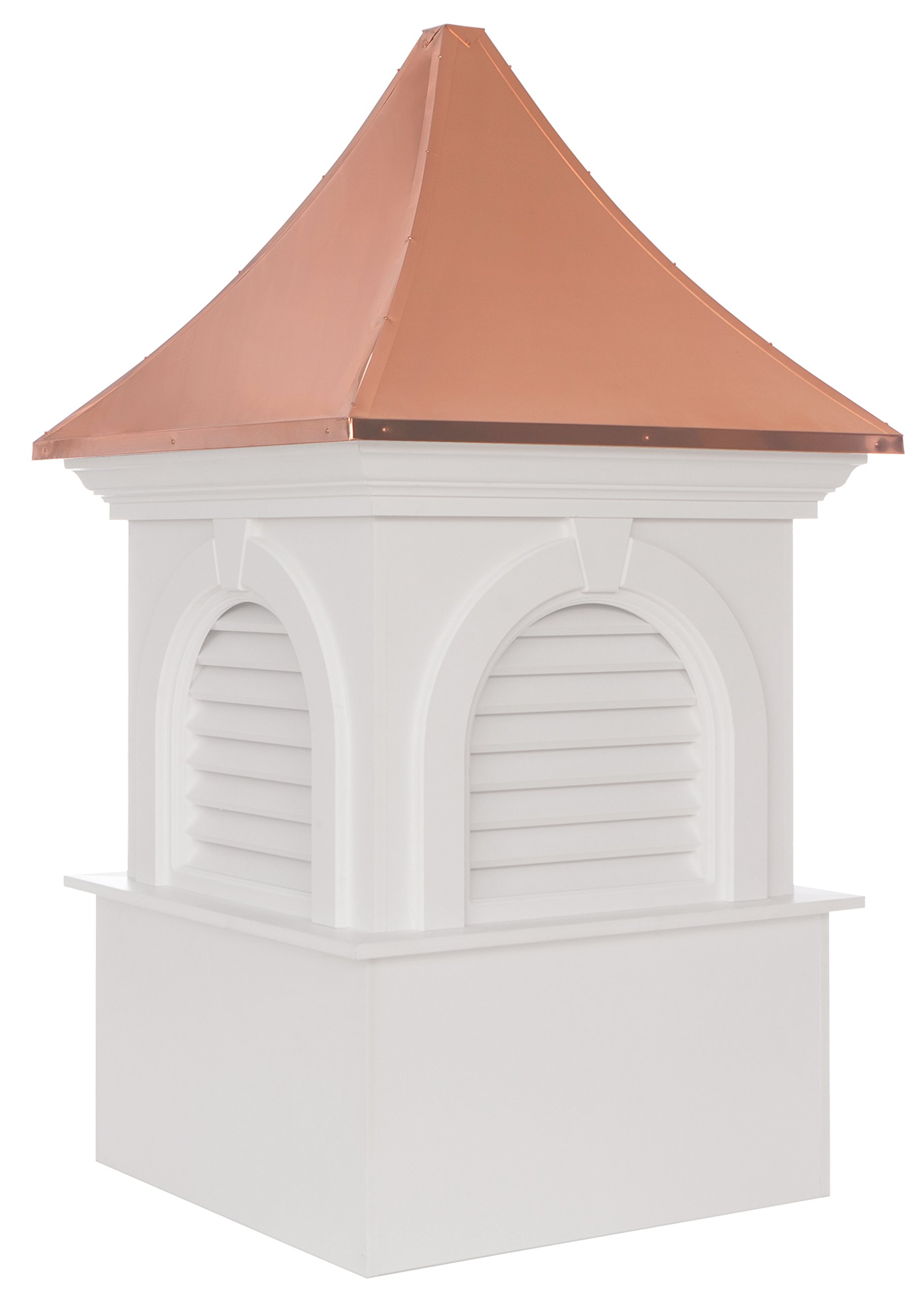 Smithsonian Newington Vinyl Cupola with Copper Roof 48'' x 80'' by Good Directions