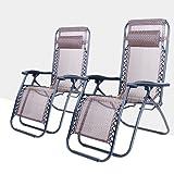 Life Carver Sun Loungers zero gravity chair Reclining garden deck chair Camp sun loungers for garden Set of 2